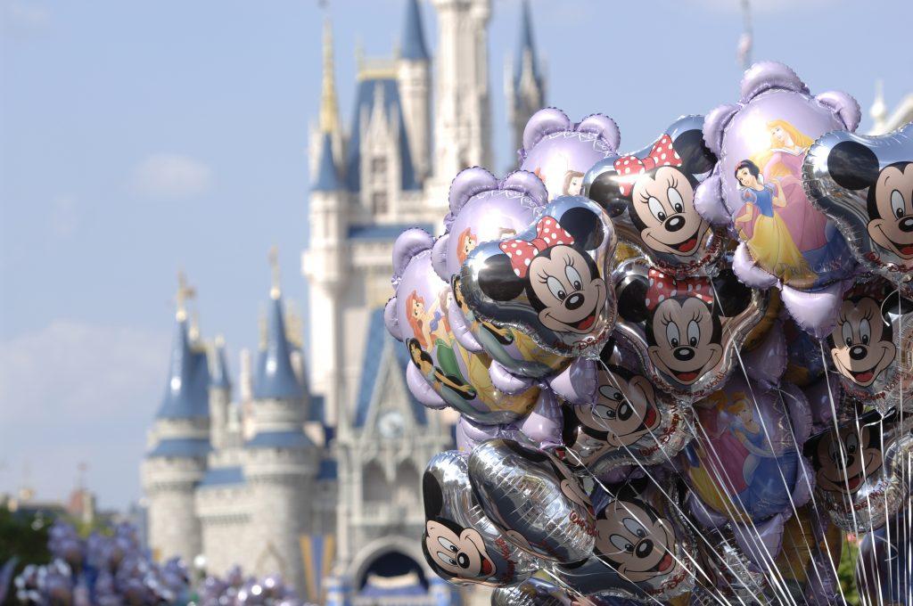 Bouquet de ballons et château au Walt Disney World Resort