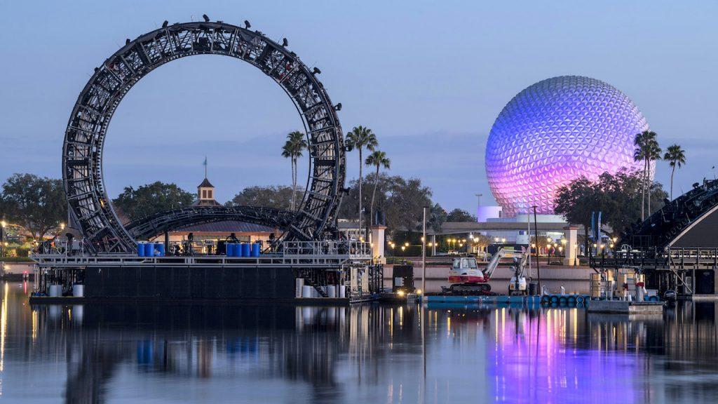 Les structures de Harmonious sont déplacées vers le World Showcase Lagoon